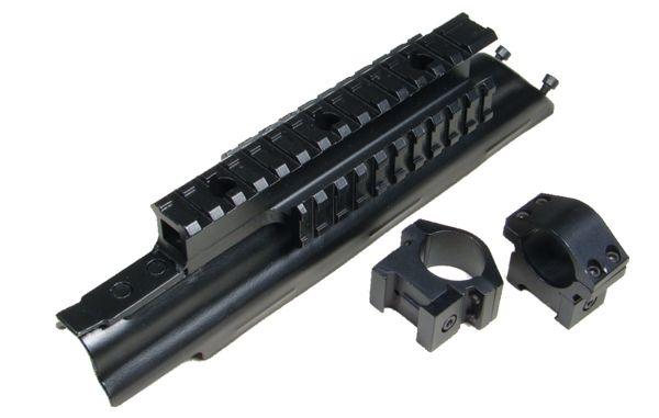UTG 5. Gen AK/MAK-90 3er Montageschiene komplett mit Ø25,4mm Montagringen