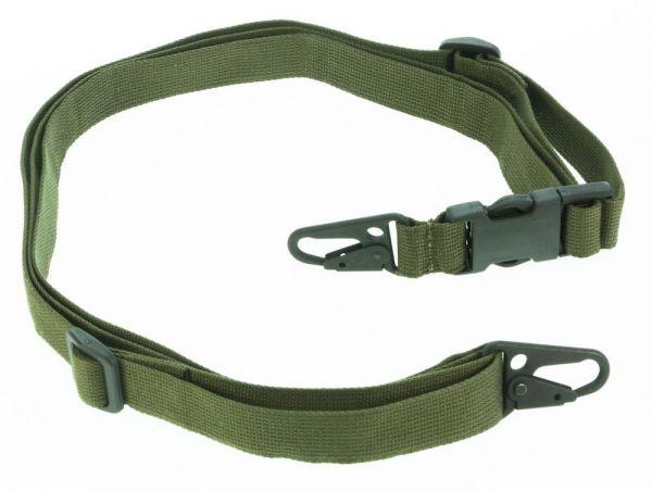 Heckler & Koch 3 Punkt Trageriemen mit Schnellverschluss, 25 mm, olivgrün