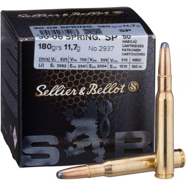 Sellier & Bellot .30-06 Spr. Teilmantel 180 grs, 50 Schuss