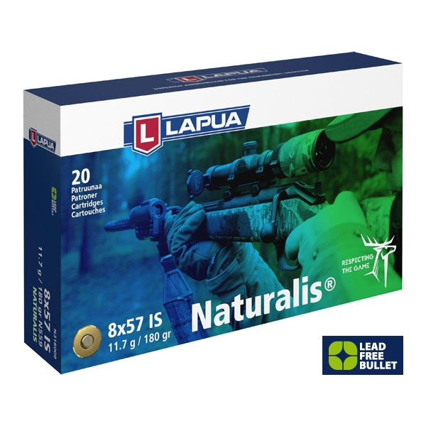 Lapua 8x57 IS Naturalis 180 grs, 20 Schuss