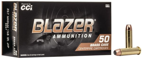 CCI .357 Magnum 158 grs JHP Blazer Brass, 50 Schuss
