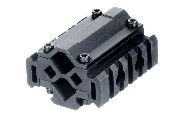 UTG Universal 3 Schienen Picatinny Rohradapter mit 5 Nuten