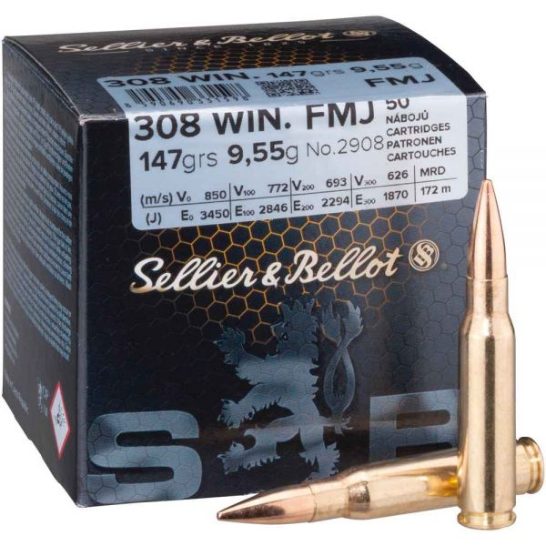 Sellier & Bellot .308 Win. FMJ 147 grs, 50 Schuss