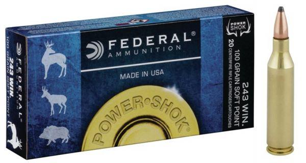 Federal .243 Win 100 gr Power Shok SP, 20 Schuss