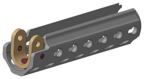 Heckler & Koch MP5 SlimLine Handschutz mit HKey, RAL8000