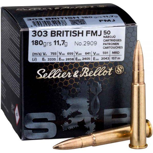 Sellier & Bellot .303 British FMJ 180 gr, 50 Schuss