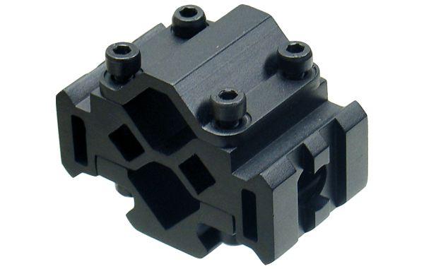 UTG Universal 3 Schienen Picatinny Rohradapter mit 2 Nuten