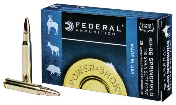 Federal .30-06 Springfield Power Shok SP, 20 Schuss