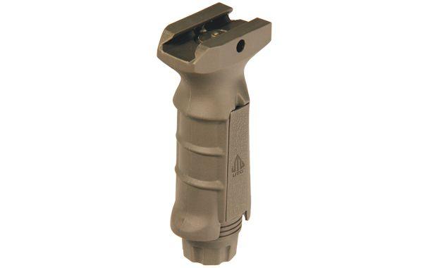 UTG-Leapers Ergonomischer Frontgriff mit Batterie-Staufach in FDE