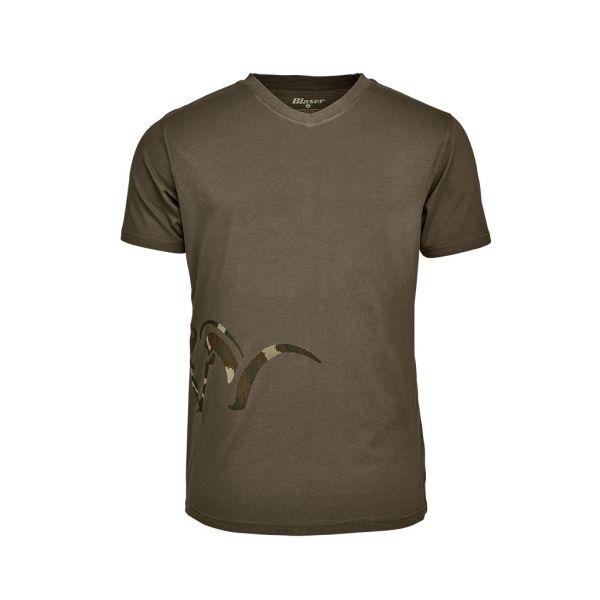 Blaser Logo V-T-Shirt Herren oliv