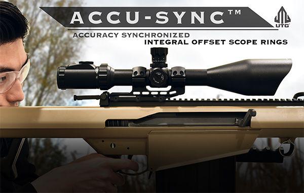 UTG Ø34mm ACCU-SYNC 50mm Offset Blockmontage, BH 22mm