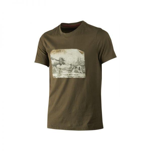 Härkila Odin Moose & Dog T-Shirt ( Willow green )